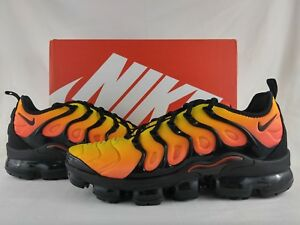 1b1dceb0e0 Nike Air Vapormax Plus Sunset Black Total Orange VM Max Tuned 924453 ...