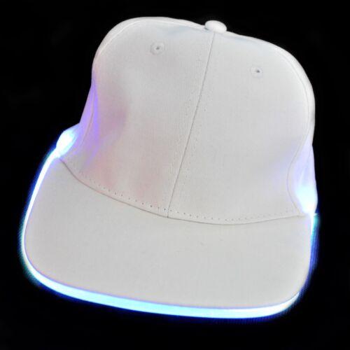 LED Flashing Baseball Cap Neon Multicolours Party Disco Costume