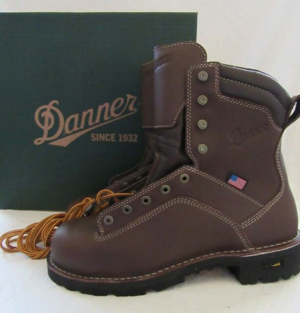 036f7639007 Danner 17307 Quarry USA Mens Brown Leather Work BOOTS Shoes Size 11 D EU 45  NWB