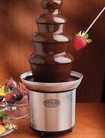 Nostalgia Electrics CFF986 3-Tier Stainless Steel Chocolate Fondue Fountain New