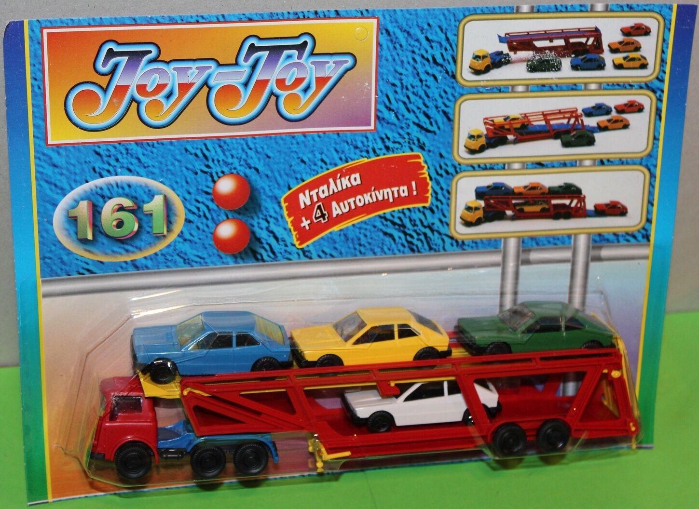 Joy Toy no 161 Bedford transportador de coche + 4 coches (hecho en Grecia) nuevo