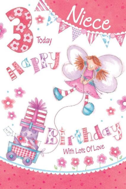 NIECE BIRTHDAY GREETINGS CARDS AGE 3 206138