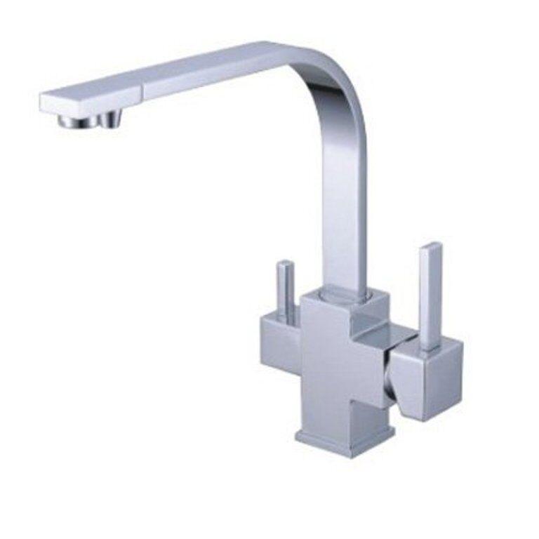 3 voies robinet esclusivo L-parcours extérieur chrome pour Osmose Inverse insTailletions d'eau potable insTailletions