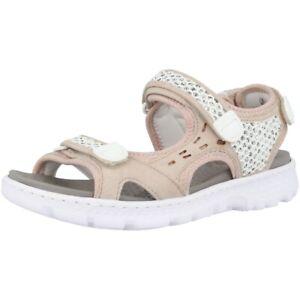 Details zu Rieker Myanmar Glitternet Scuba Schuhe Damen Antistress Sandale shell 67888 60