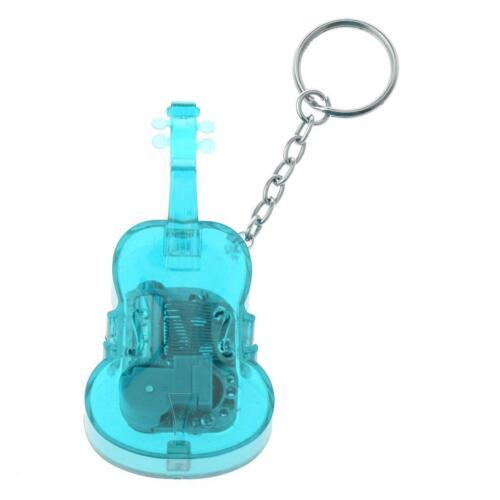 cool Schlüsselanhänger Taschenanhänger mit Geige Modell mini Musikspieldose