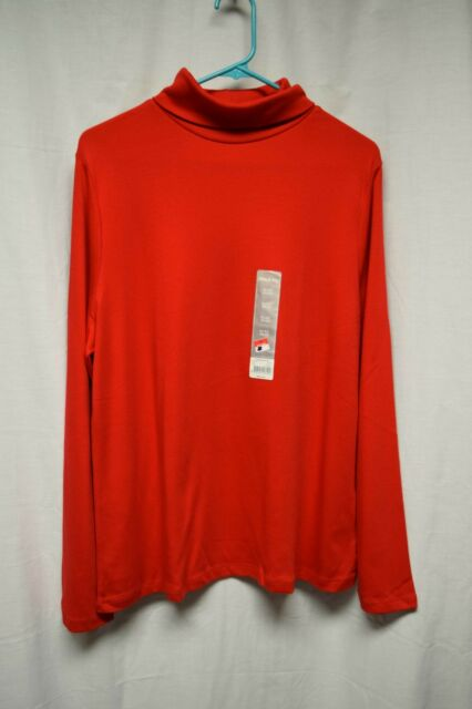 7427b98b4e619 Womens Shirt Size XL By White Stag Red Turtleneck Long Sleeve Pull Over NWT