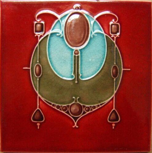 British Art Nouveau Vintage Ceramic Tile Rare Reproduction Majolica European UK