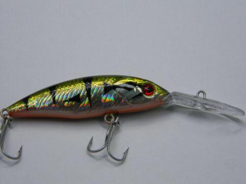 Barsch SyMa-Fishing Wobbler Kunstköder für Hecht Zander  ca 8cm 5g