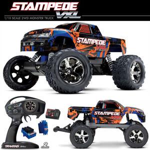 Traxxas 1/10 Stampede VXL Brushless 2WD Monster Truck RTR 36076-4 Orange