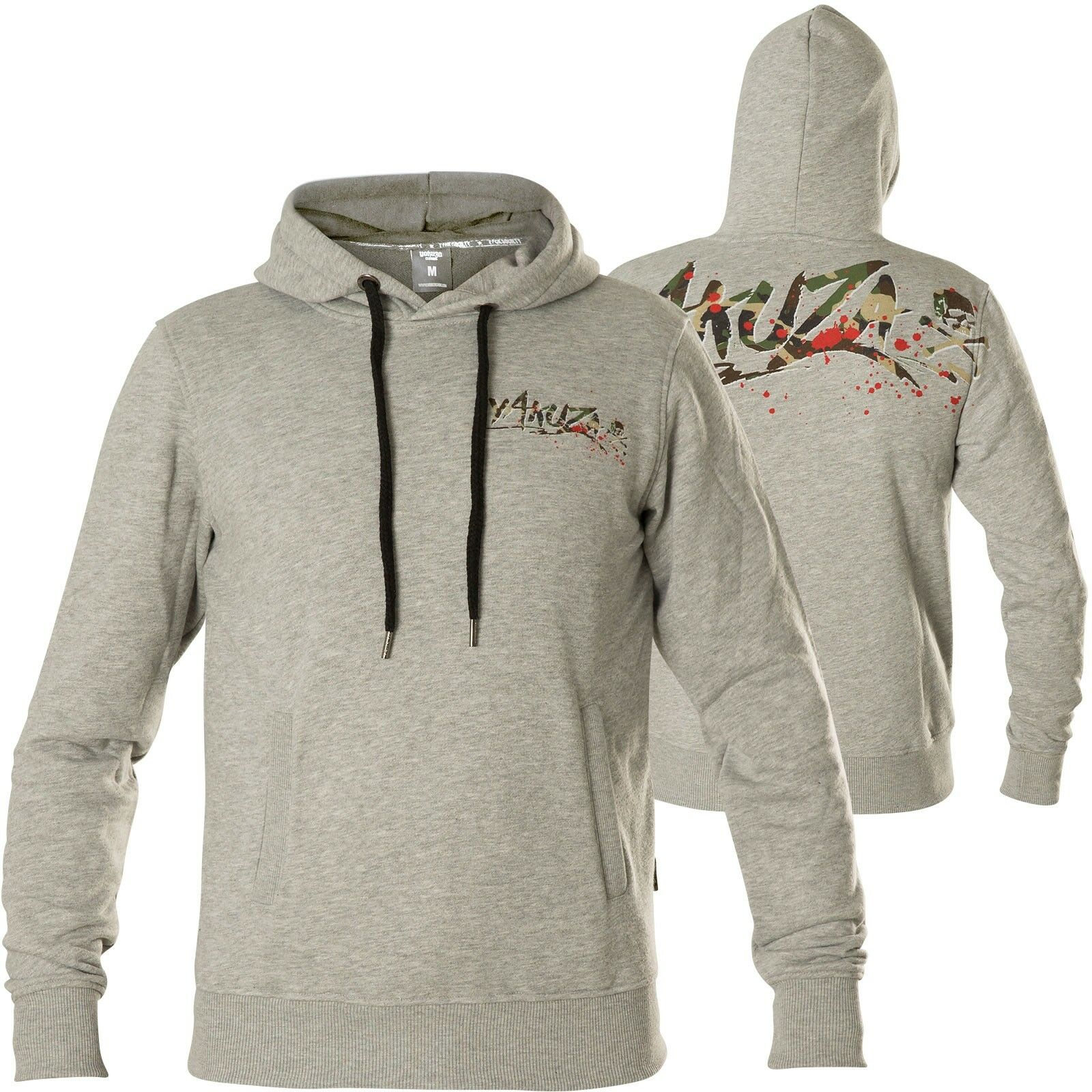 Yakuza Hoody Trophy HOB-13055 Light Grey Melange