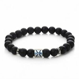 Black Tourmaline Bead Bracelet Chakra Energy Healing Protection Relieves Stress Anxiety Gift for Men /& Women 8mm