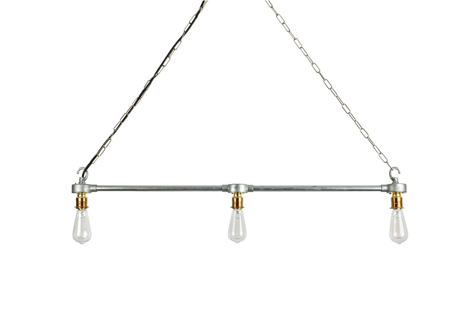 Steel Industrial Rustic Ceiling Hanging Pipe Light E27 Bar Kitchen Light