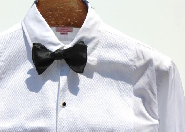 Hamilton 15.5/34 Gentleman's Custom Tailored White Formal Tuxedo Shirt - $345.00