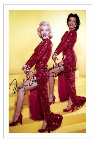 MARILYN MONROE /& JANE RUSSELL SIGNED PHOTO PRINT GENTLEMEN PREFER BLONDES