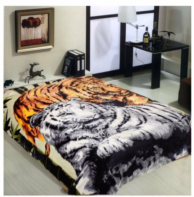 Hiyoko Tigers Animal Mink Blanket Throw Bedspread Comforter Coverlet 90x75