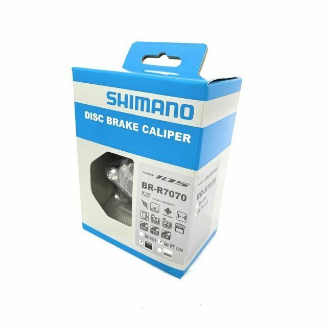 New Shimano 105 Road BR-R7070-F 11 Speed Flat Mount Disc Brake Black Front