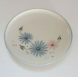 "Franciscan Maytime Bread Plate Gladding McBean & Co. 6"" Blue Pink Daisies"