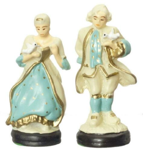 Puppenhaus Colonial Paar Lady /& Gent Figuren Miniatur Deko Zubehör
