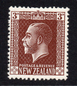 New-Zealand-3d-Stamp-c1915-30-Mounted-Mint-Hinged-6698