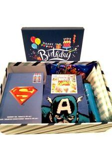 Image Is Loading Mens Birthday Hamper Gift Box Marvel Superman Son