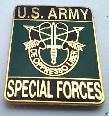 *** US ARMY SPECIAL FORCES ***  Military Veteran Hat Pin P12021 EE