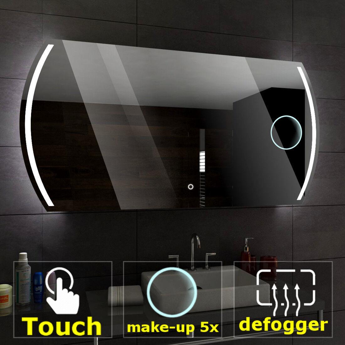 Le Caire Illuminé DEL Miroir de salle de bains   Commutateurs   Make-up   Désembuage Pad