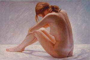 CHOP208 decor art modern 100% hand-painted nude girl oil painting art on canvas