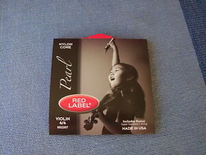 Pearl-Red-Label-violin-set-4-4-nylon-core-with-free-E-string