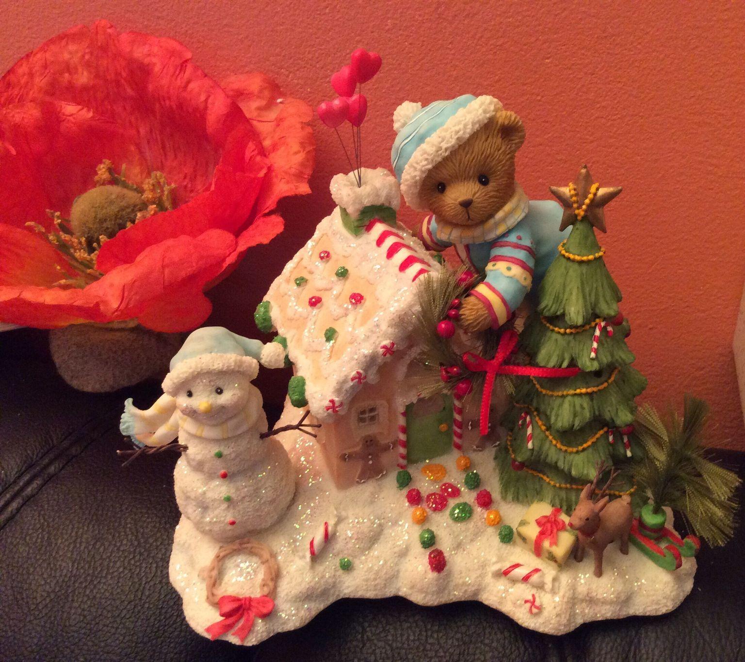 Cherished Teddies Anders Anders Anders Bear Decorating Gingerbread House Musical Neu und OVP 725a72