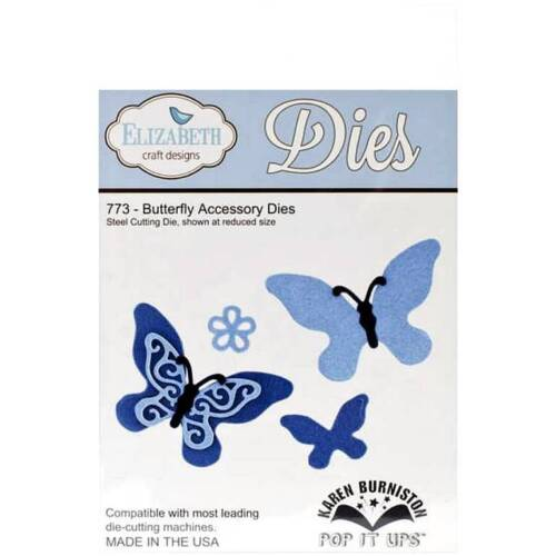 Butterfly Accessory 773 New Free P /& P Elizabeth Craft Designs 5 Cutting Dies
