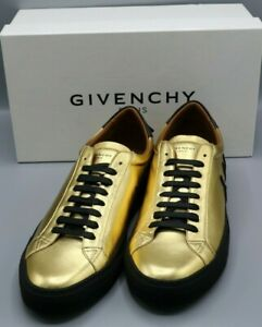 Givenchy Men's Gold and Black Leather