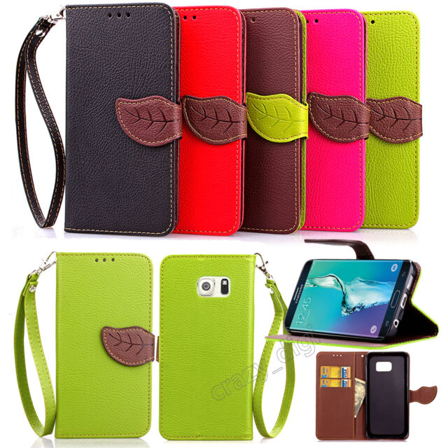 Dual Leaf Leather Wallet Case Cover For Samsung Galaxy Note 5/S6 Edge Plus/A8