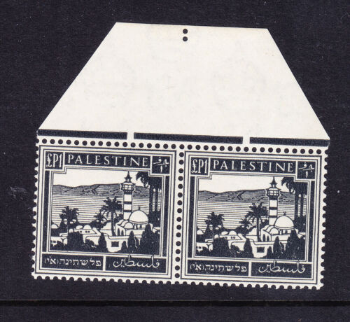 PALESTINE 1942 SG111 1 black unmounted mint pair. Catalogue 24.