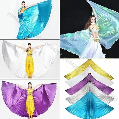 no stick Egyptian Egypt Belly Dance Costume Opening or 360° Fancy  Isis Wings