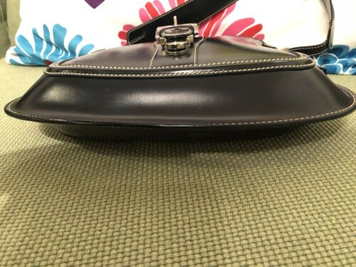 Made Tod's cuero de azul marino Euc In Bolso Italy Authentic S de qU8BTTxwX