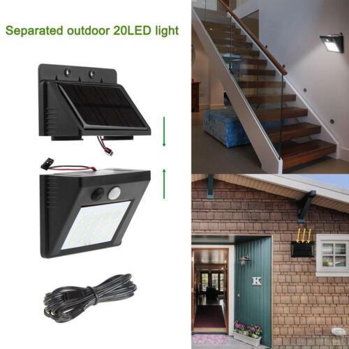 Details about  /Solar LED Wall Lamp Motion Sensor Separable Light Waterproof Outdoor Garden Yard