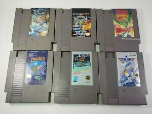 6 Game Nintendo NES lot Dragon Warrior, Solstice, Sky Shark, Rad Racer ++ TESTED