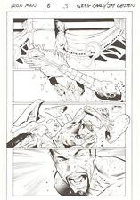 Iron Man #8 p.3 - Tony Stark vs Death's Head in Trial by Combat art by Greg Land