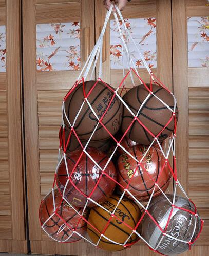 afford 15-20 football basketball storage bag draw cord mesh sack ball carry net