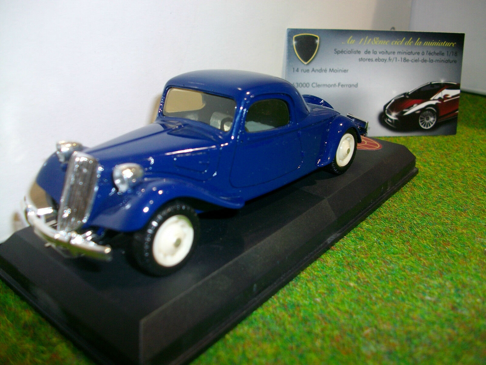CITROËN TRACTION coupe bleu au 1/43 d ELYSEE 525 voiture miniature de collection