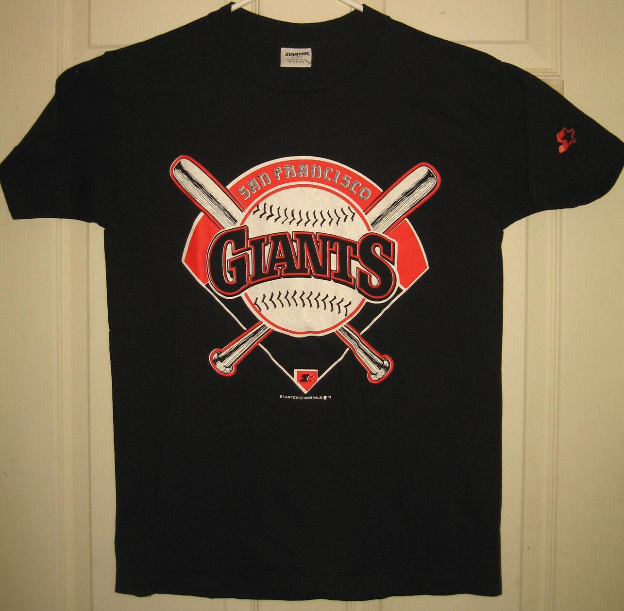 SF GIANTS Shirt M 1989 Starter MLB NEW Battle of the Bay World Series OOP RARE