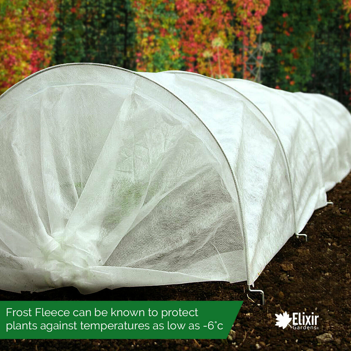 1.5m x 10m Wide Garden Cold Frost Wind Fleece for Winter Plant Protection