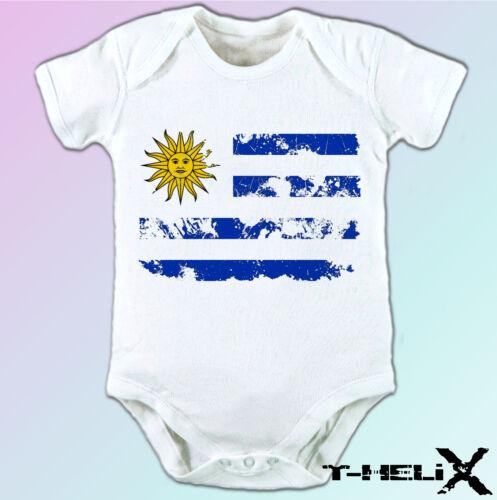Uruguay Flag white t shirt top country design mens womens kids baby sizes