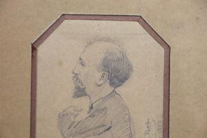 Alfred-LE-PETIT-1841-1909-Ritratto-uomo-1883-caricatura-disegno