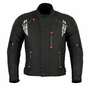 MCW Gear Black Mens Motorcycle Motorbike Textile Cordura Jacket CE Armoured