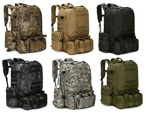 55L Molle Outdoor Military Tactical Bag Camping Hiking Trekking Backpack Hot