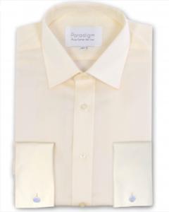 "Paradigm Pure Cotton Non-Iron DC Formal Shirt Cream - 21"" SRP .00"