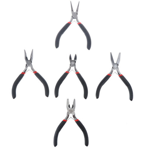 Details about  /1 pcs Stainless Steel Black Needle Nose Pliers Set Hand Tool For Jewelry MaHba