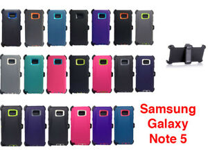For-Samsung-Galaxy-Note-5-Case-Cover-Shockproof-Fits-Otterbox-Defender-Clip