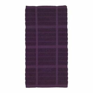Purple Kitchen Towels   All Clad Set Of 2 Plum Purple Kitchen Towels Solid And Checkered 100